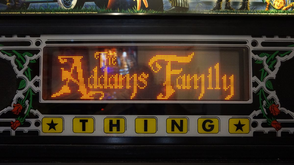 The Adams Family display